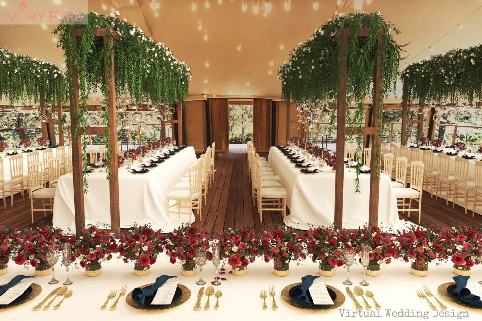 turon gates, blue mountains, sydney. 3D wedding venue design render