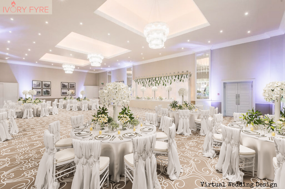 mar hall glasgow, 3D virtual wedding venue design render