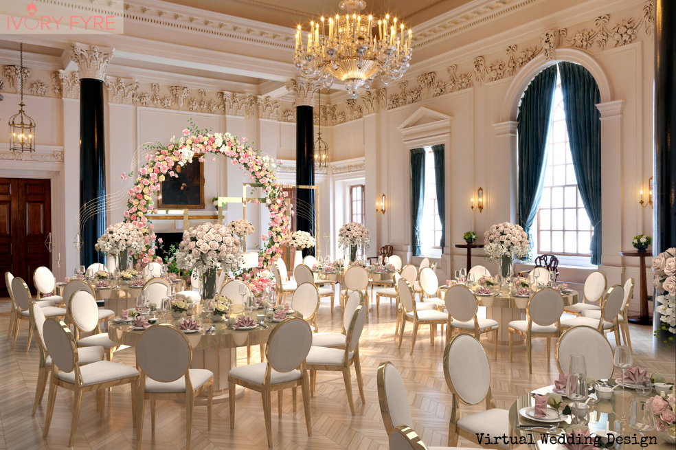 the ned london 3D virtual wedding design
